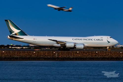 sydney newsouthwales australia au cathay cathaypacific cathaypacificcargo boeing b748f cx syd yssy sydneyairport