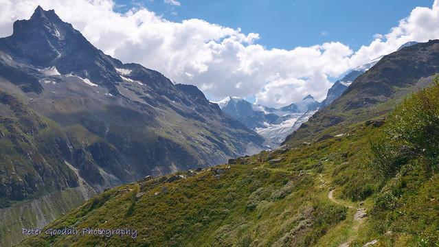 Zinal Glacier from Sorebois Trail