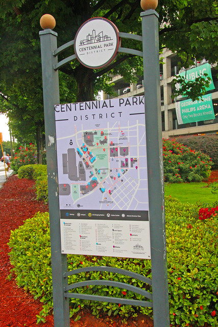 Centennial Park District, Baker Street, Atlanta, Georgia