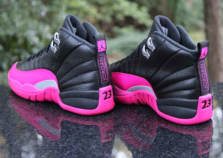 f3f7270dfa0abc ... Air Jordan 12 Retro GG Playoffs Black Deadly Pink Silver 510815-026  Size 7Y