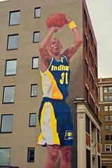 Basketball mural