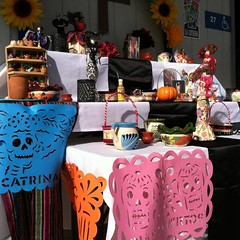 Today, my ELL students are the experts on campus. Our first ever Ofrenda, lovingly prepared by generous staff. #diadelosmuertos