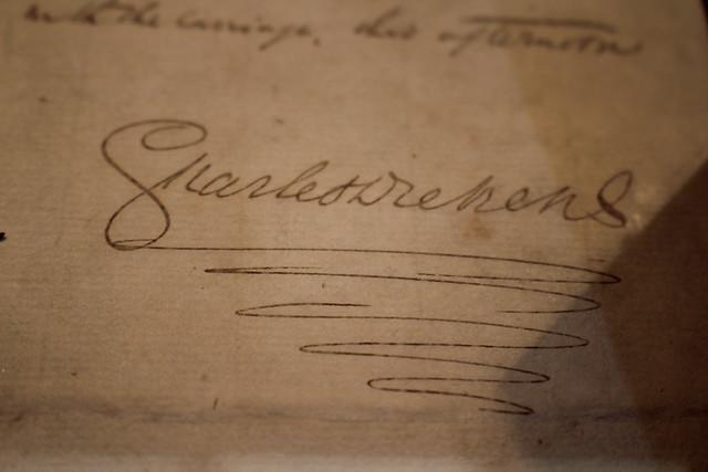 Signature de Charles Dickens - Foire du Livre de Francfort 2018 #FBM18