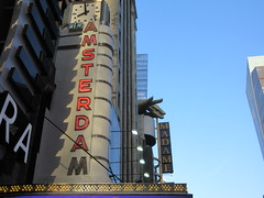 New Amsterdam Red Neon Lit Theater Marquee 4742