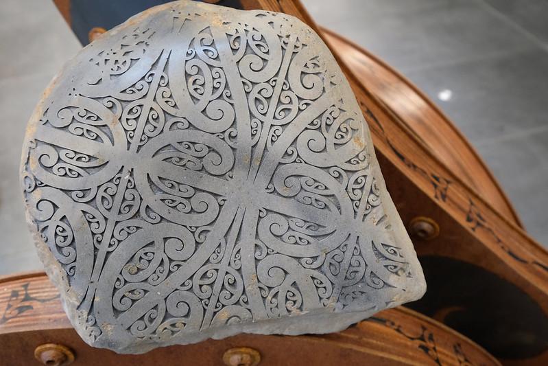 Detail of Kāhui Whatu by Fayne Robinson