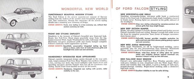 1960 Ford Falcon Salesperson's Guide