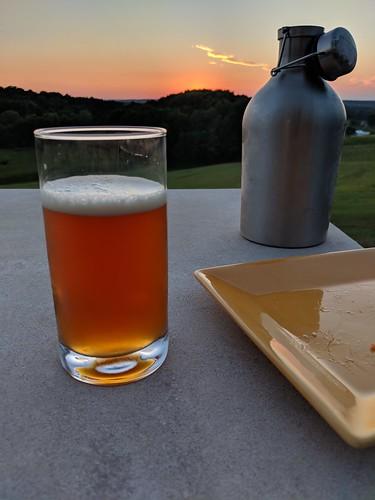 beer homebrew sunset