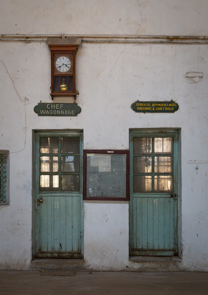 Abandoned offices inside the ethio-djibouti railway statio