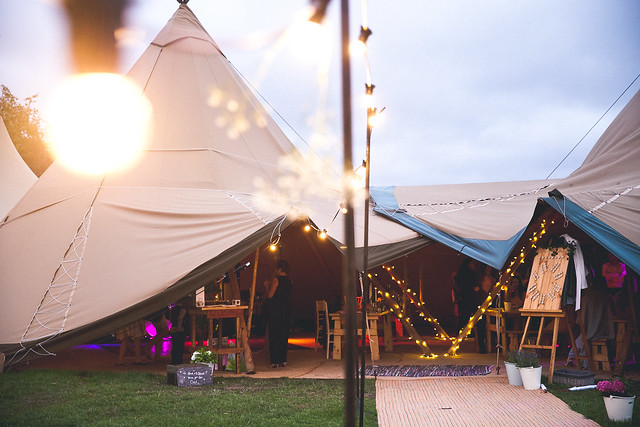 Two giant tipis_(PHOTOGRAPHER)_Rachel&Jake_(EVENT)_Tipi Unique