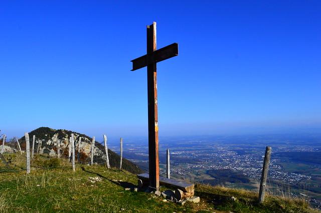 Gipfelkreuz auf der Wandflue bei Grenchen