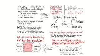 Moral Design: Thinking Beyond Ethical Frameworks by Zack Bryant @zbryant #eduiconf @edUiConf #libraryux #ux #sketchnotes #uxethics #ethics #morality | by Siriomi