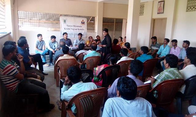 Programme on Digital Farming at Sasya Shyamala KVK Farm, on 12 April 18.