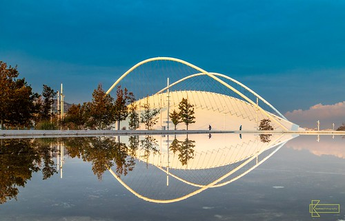 athens greece hdr olympicsportscomplex reflection santiagocalatrava sunrise velodrome arches architecture clouds colors composition landscape morninglight sky symmetry tunnel urban