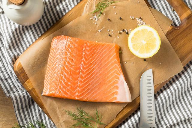 Raw Organic Atlantic Salmon Fillet