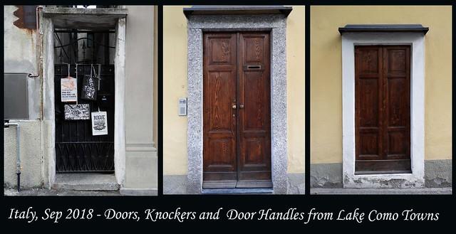 ITALY SEP 2018 - Lake Como Doors and Knockers (10 - 12)