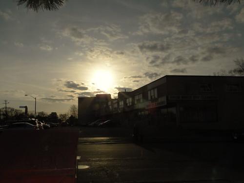 north york march sunset spring urban city toronto neighbourhood d