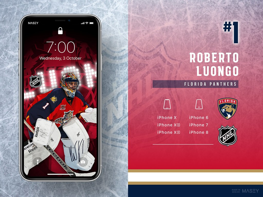Roberto Luongo (Florida Panthers) iPhone Wallpaper