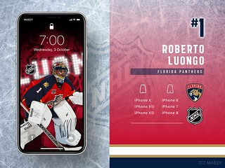 #1 Roberto Luongo (Florida Panthers) iPhone Wallpapers | by Rob Masefield (masey.co)