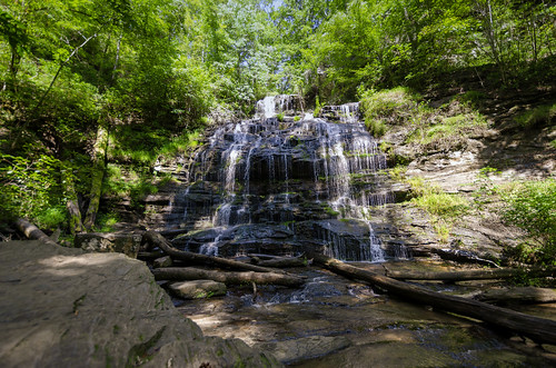 oconee station cove falls water outdoor landscape woods trees forest the south carolina waterfall