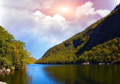 Lake Placid New York  ~  Sunset over Saranac River - | by Onasill ~ Bill Badzo