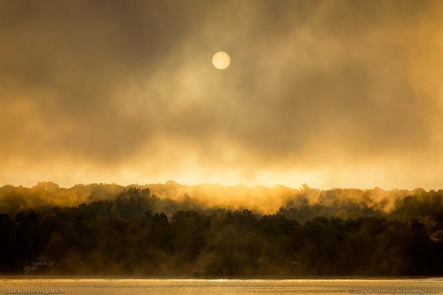 Fog at Lake Wassookeag