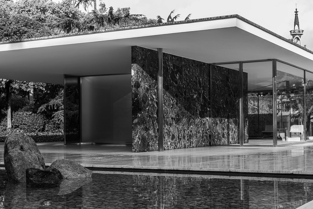 The Barcelona Pavilion Designed By Architect Mies Van Der Flickr