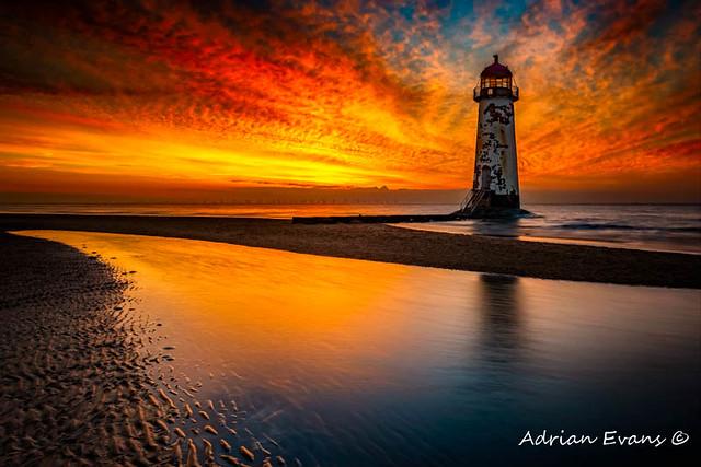 Old Lighthouse Sunset