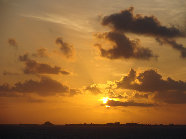 The Sun Rises over Isla Mujeres