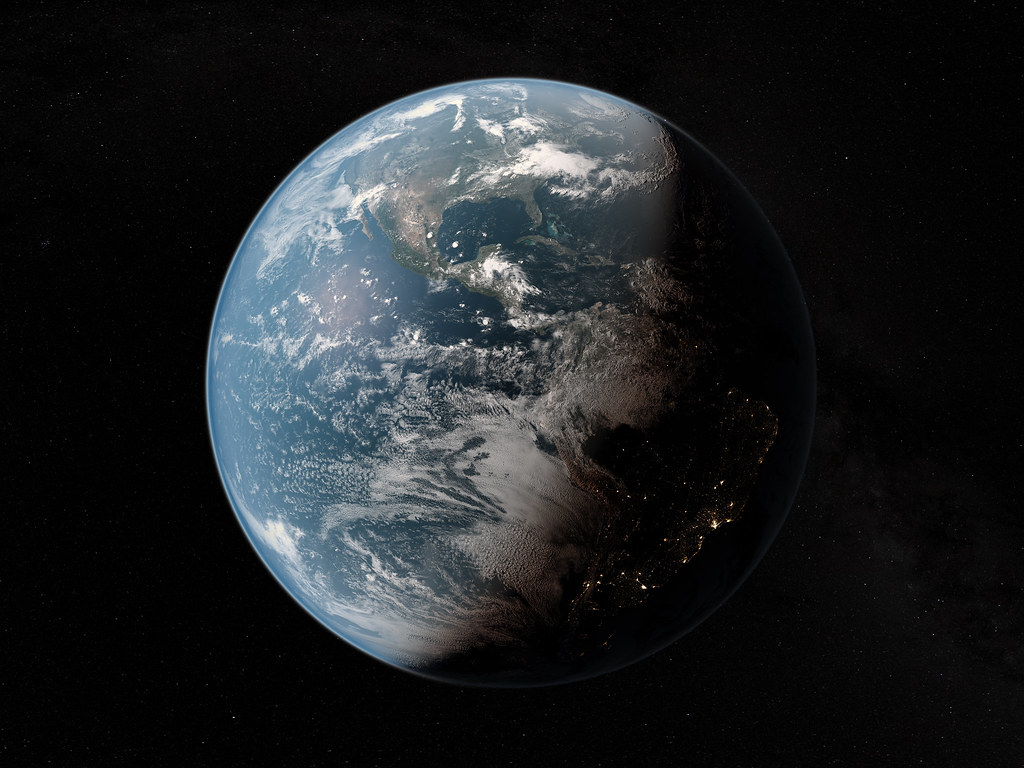 Earth Planet Earth From Space 3d Cg Rendering Of Planet