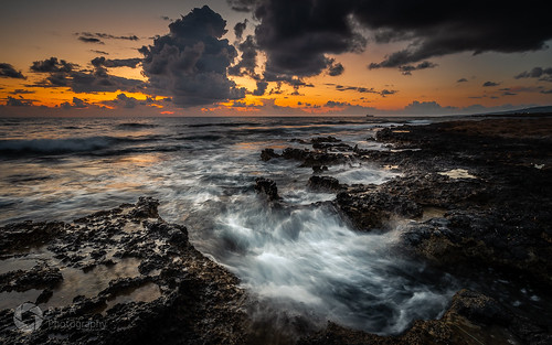 cyprus mediterranean sea seascape nikon outdoors light nature rocks sky dusk sunset clouds rtaphotography d750 nikkor1835 colour longexposure