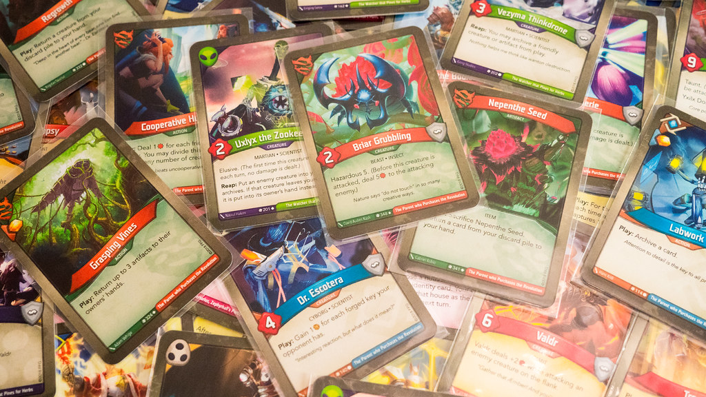 Random KeyForge cards   A pile of KeyForge: Call of the Arch…   Flickr