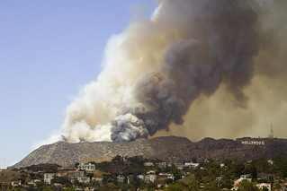 Hollywood Hills Fire 2007 | by PortugePunk