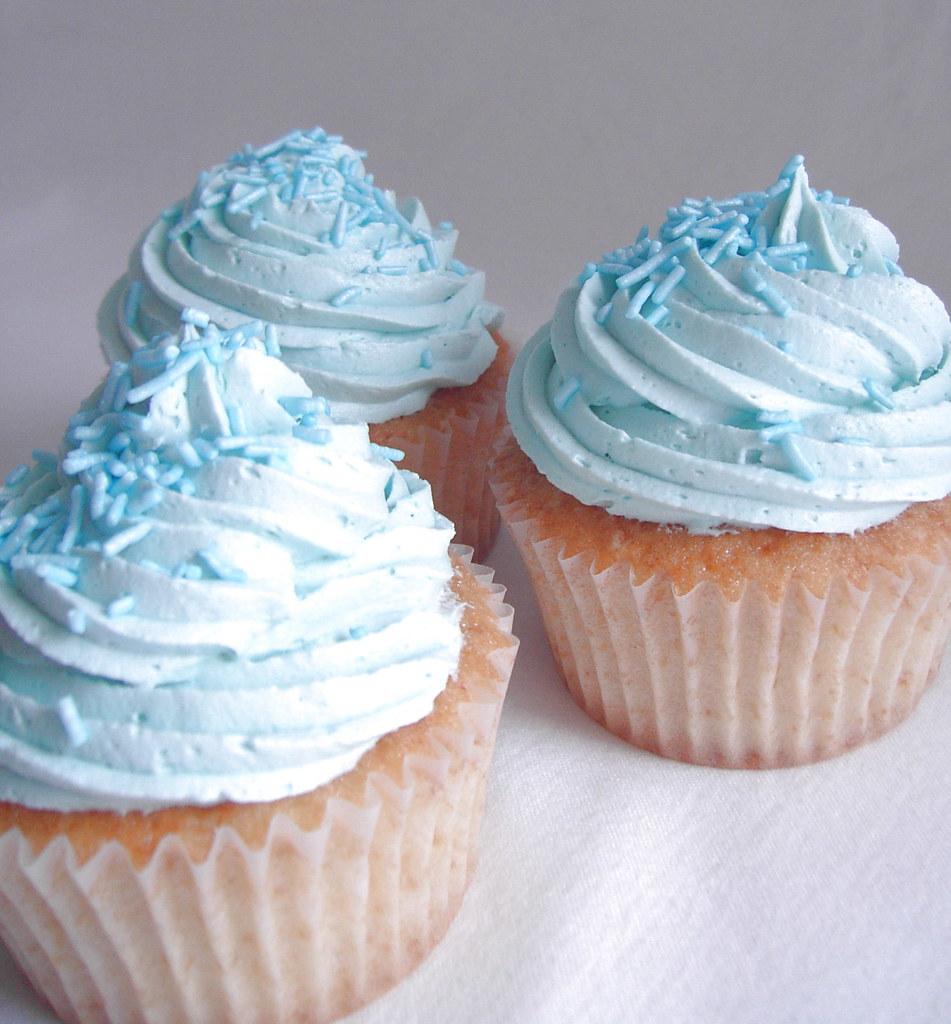 Blue Vanilla Cupcake Free Stock Photo - Public Domain Pictures   Blue Vanilla Cupcakes