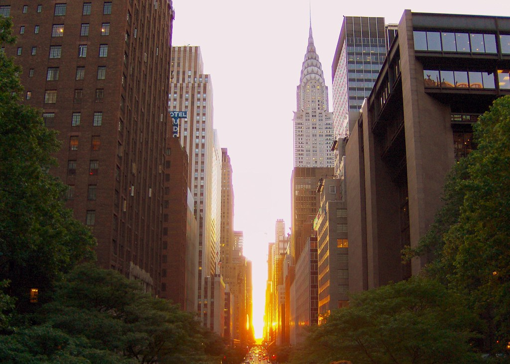 Manhattan Equinox | chrysler building, 42nd street, nyc, new