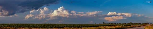 062318 - Dying Thunderstorms @ Sunset (Pano) 001