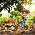 Oliver's first job, apple picker.