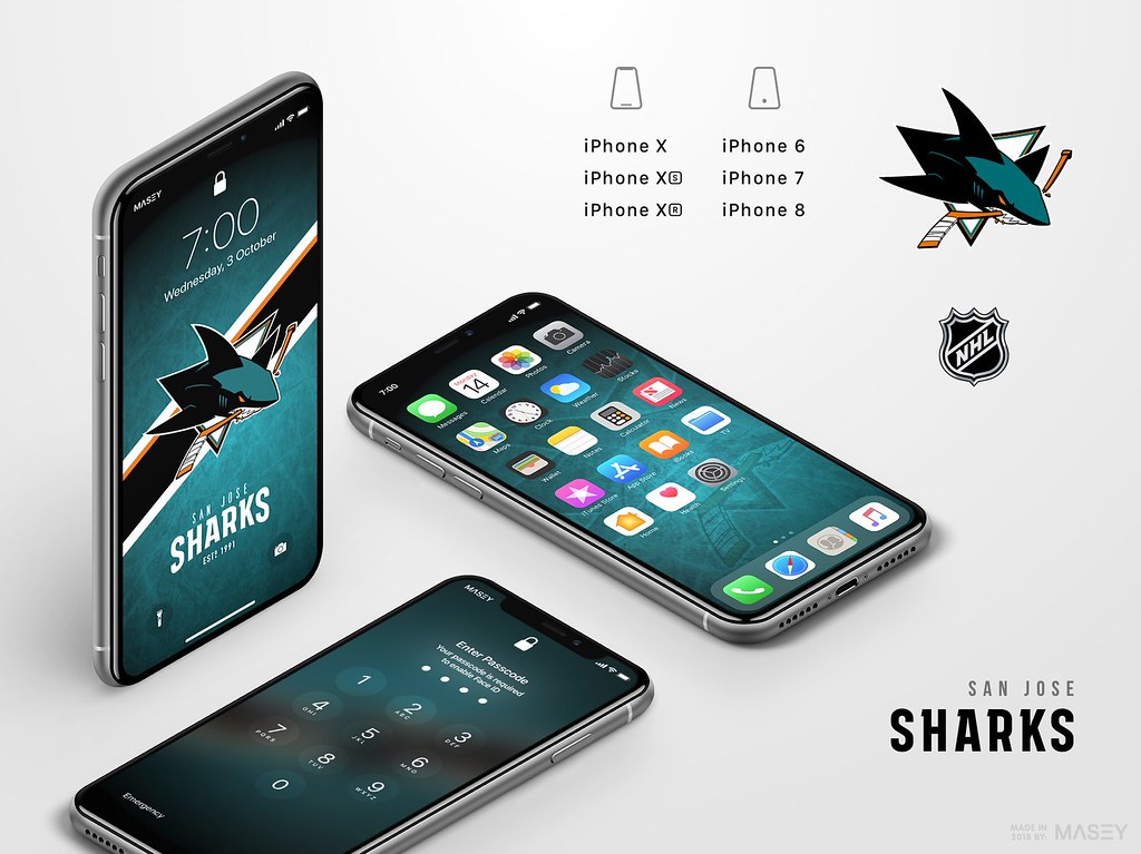 San Jose Sharks iPhone Wallpaper