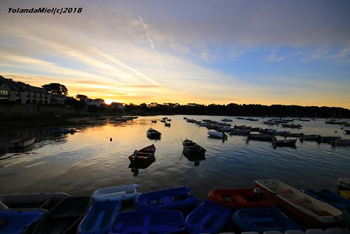 bretagne brittany larmorbaden morbihan sunrise leverdesoleil harbor port bateau boat fishing coast côte sea seashore