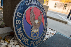 The CNFK logo from the decommissioned headquarters at U.S. Army Garrison Yongsan. (U.S. Navy/MC3 William Carlisle)