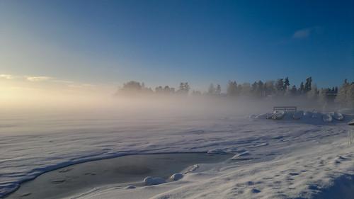 nokian8 landscape seascape frozensea mist sky blue ice snow boats outdoors nature westend espoo finland