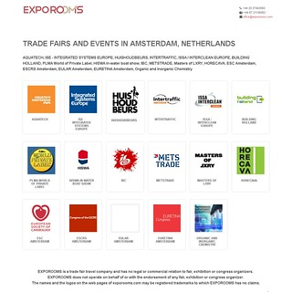 Trade Fairs and Events in Amsterdam, Netherlands | by exporooms.com