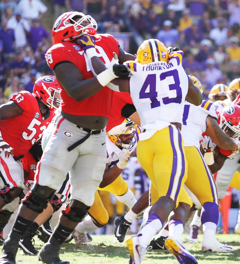 GA VS LSU E101318 163   LSU Tigers linebacker Ray Thornton ...