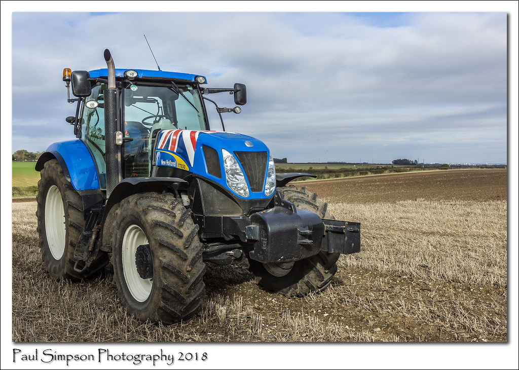 New Holland T7030 | A New Holland T7030 tractor on display a