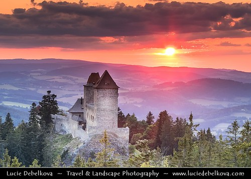 Czech Republic - South Bohemia - Kasperk Castle at Sunset