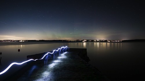 Lighttrail and aurora | by Blackpeppereye