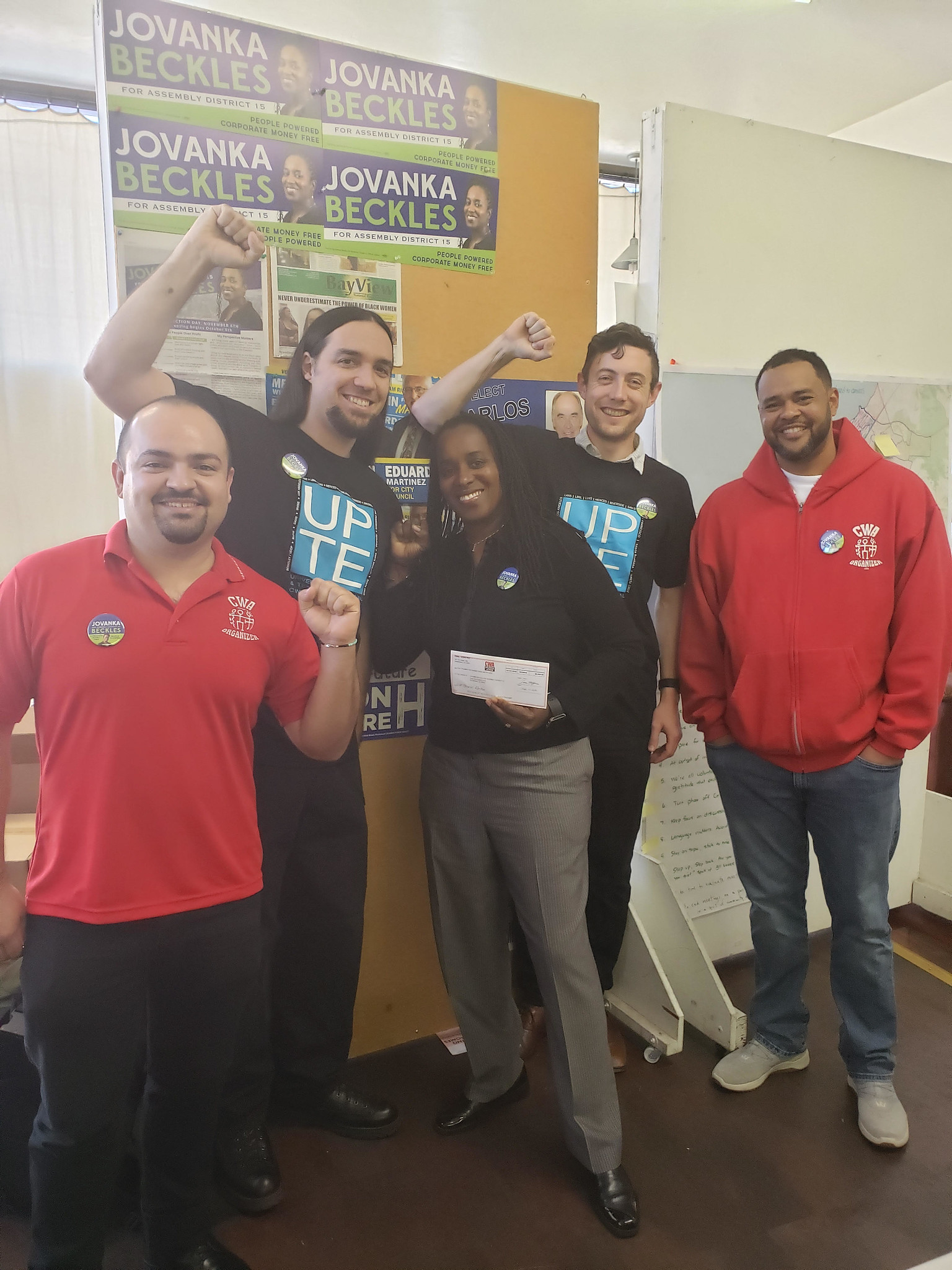 Local 9119 UPTE and 9404 with assembly candidate Jovanka Beckles!