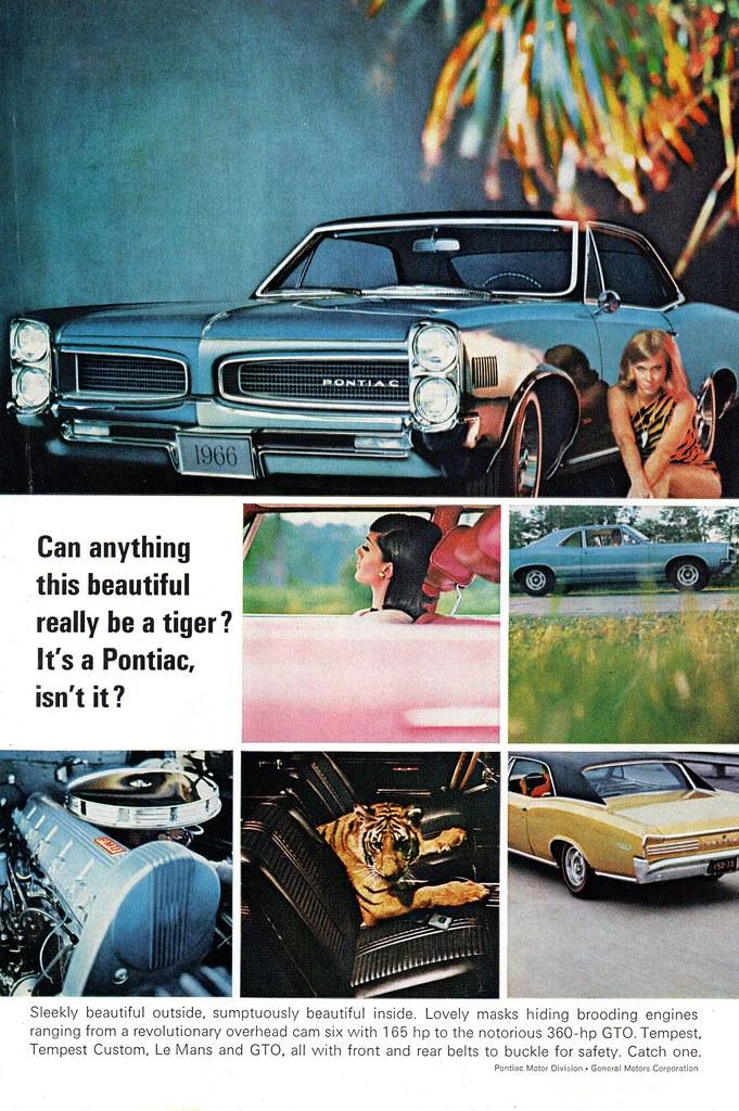 1966 Pontiac GTO Tempest Sport Coupe USA Original Magazine… | Flickr