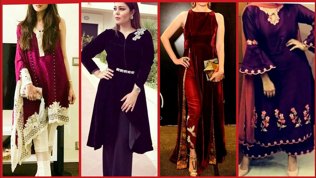 Top Stylish Party Wear Designer Velvet Dress Designs Collection For Girls A Photo On Flickriver