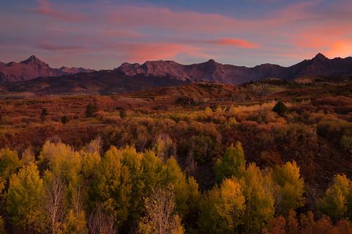 colorado fallfoliage aspens sunset mountains rockymountains sanjuanmountains sneffelsrange mountsneffels dallasdivide canon6d canonef24105mmf4l