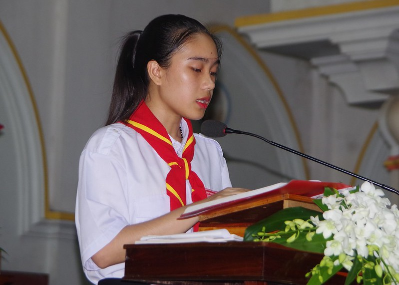 Lễ ra mắt TNTT xứ  đoàn Đa Minh Tân Phong, QB (11)